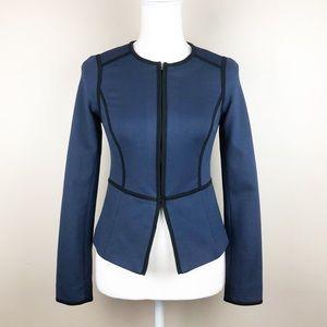 Boden Blue Cotton Blazer. Size 2.